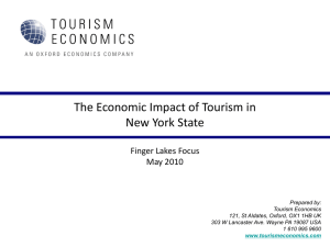 Oxford`s Economic Impact of Tourism in the Finger Lakes