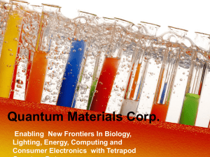 Quantum Materials PPT - Greater San Marcos Partnership