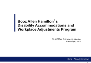 Booz Allen Hamilton`s Disability Accommodations and Workplace