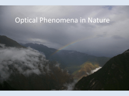 Optical Phenomena in Nature