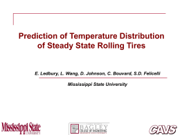 (Lin and Hwang, 2004) 3D Full-Tire Steady State Rolling