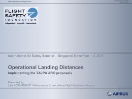 Operational Landing Distances