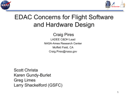 EDAC Concerns for Flight Software and Hardware Design