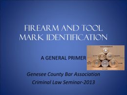 Firearm and Tool mark identification