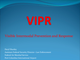PPT VIPR - National Homeland Security Association