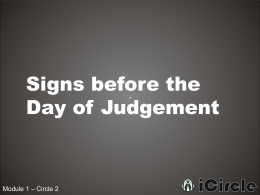 1-2 Signs Before the Day of Judgement