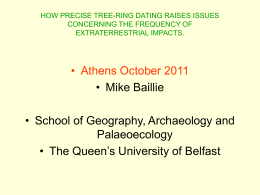 How precise tree-ring dating raises issues concerning the frequency