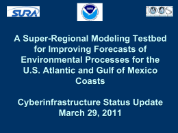 CI Status March 29-2011 - super regional modeling testbed