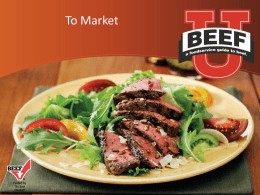 To Market - Georgia Beef Board