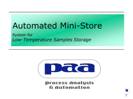 Automated Mini-Store (AMS)