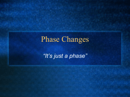 Phasechanges