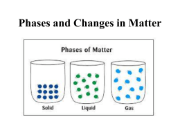 Phases of Matter (Chapter 3)