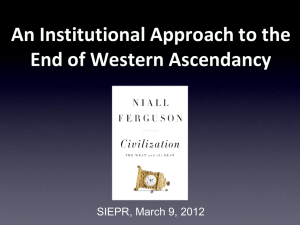 Niall`s Presentation - Stanford Institute for Economic Policy Research