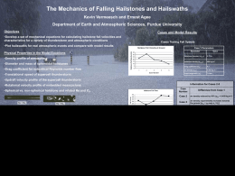 The Mechanics of Falling Hailstones and Hailswaths