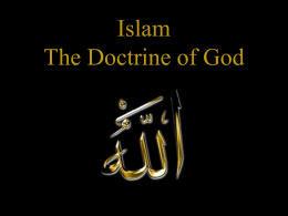 IslamicDoctrineofGod