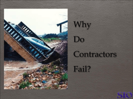 Why Do Contractors Fail? - The Surety & Fidelity Association of