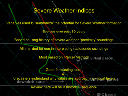Severe Weather Indices - Met e