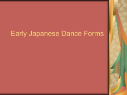 Early Japanese Dance Forms
