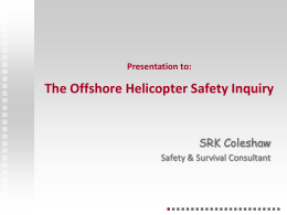 Click to add title - Offshore Helicopter Safety Inquiry