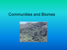 Communities and Biomes