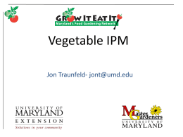 MG13 Vegetable IPM - University of Maryland Extension