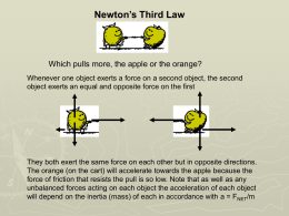 Newton`s Third Law (PowerPoint)