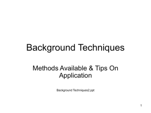 Background Techniques - Redford Model Railroad Club