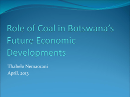 Role of Mining and Coal in Future Economic Developments