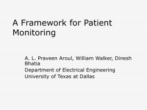 A Framework for Patient Monitoring