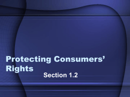 Protecting Consumers` Rights