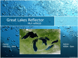 PRESENTATION NAME - West Michigan Privately Owned Repeater