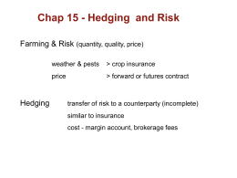 chap 15 - Futures & Hedging