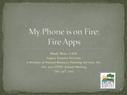 Fire Apps - University of Florida