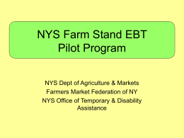 EBT Farm Stand Poster in English