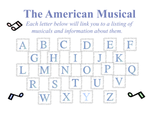 The American Musical - OutsideTheBox93.org