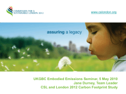 Commision for a Sustainable London 2012