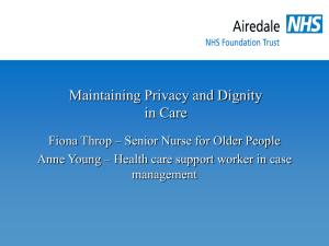Maintaining Privacy and Dignity in Care (Fiona Throp)