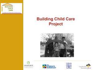 presentation - Building Child Care