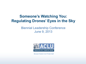 Regulating Drones` Eyes in the Sky