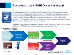 Simplified tax refund in CDG