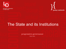 The state and its institutions (Patrick Diamond)