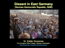 GDR Dissent - The Evergreen State College