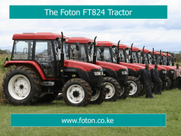 Why choose a Foton Tractor?