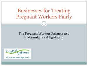 Businesses for Treating Pregnant Workers Fairly