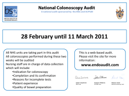 Audit Poster - BSG Colonoscopy Audit