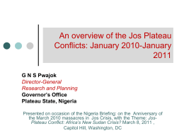 A Kaleidoscope of Conflicts in Plateau
