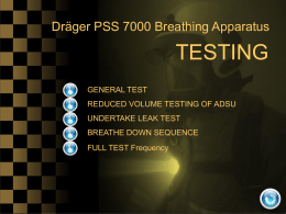 TR003BA Training Package - Drager PSS 7000 BA Set Testing