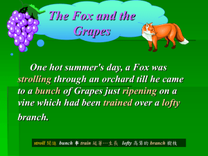 One hot summer`s day, a Fox was strolling through an orchard till he