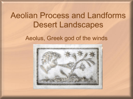 Arid and Aeolian Landscapes