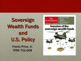 Sovereign Wealth Funds (SWF) Investment and - US-Global